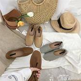 樂福鞋女 奶奶鞋春秋平底方頭樂福鞋兩穿一腳蹬懶人搭豆豆鞋淺口單鞋女  韓流時裳