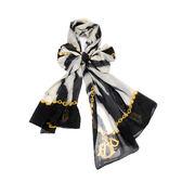 Christian Dior時尚斑馬紋長絲巾(黑)179008