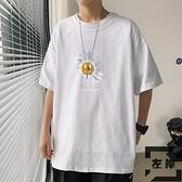 短袖t恤男夏季韓版大碼圓領情侶裝半袖【左岸男裝】