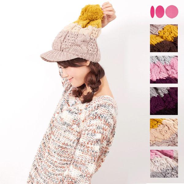 【MIT台灣製】台灣製 雙層帽眉+發熱紗 針織毛線帽(五色)