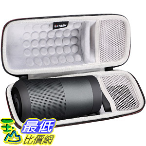 [8美國直購] LTGEM Case for Bose SoundLink Revolve Bluetooth Speaker with Mesh Pocket-Black