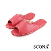 SCONA 全真皮 手縫舒適室內鞋 紅色 (女) 9998-3