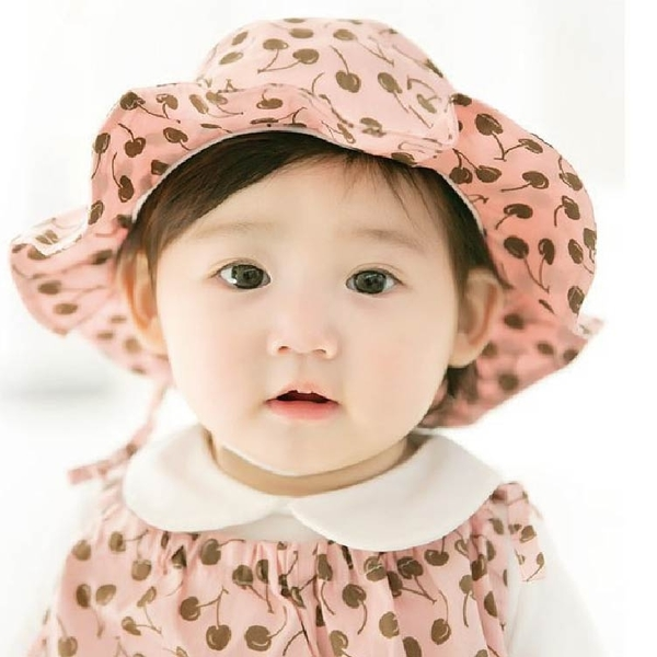 夏童帽 寶寶遮陽帽 DL韓版嬰兒帽 寶寶防曬帽 太陽帽 公主草帽  花邊帽 (帽圍48-50cm)【JD0047】