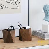 北歐木質筆筒桌面實木筆盒辦公室大容量多功能筆座【輕奢時代】