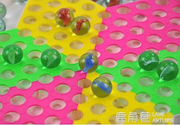 超值經典游戲跳棋七合一開心玩兒童益智親子桌游玻璃珠棋『鹿角巷』
