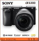 【福笙】SONY A6300 L 含16-50mm (公司貨) 送SONY32GB 90MB/S+副電+座充+復古皮套+保貼 ILCE6300L