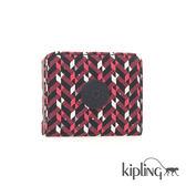 Kipling 磚紅幾何印花零錢包-小
