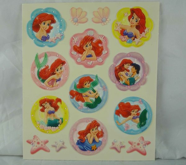 【震撼精品百貨】Disney Princess迪士尼公主The Little Mermaid Ariel小美人魚愛麗兒~玻璃貼紙