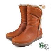 【Panama Jack】Madona休閒皮靴/女靴/短靴 棕色(P8916W-CUE)