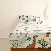純棉可愛卡通床罩雙層紗透氣床包單件床上用品【創世紀生活館】