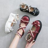 娃娃鞋日系洛麗塔小皮鞋女復古森女軟妹可愛大頭娃娃鞋學生厚底lolita鞋 衣間迷你屋