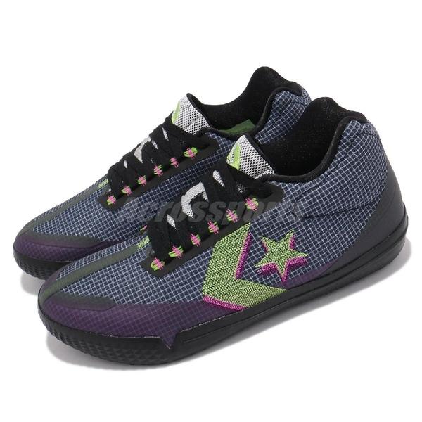 Converse 籃球鞋 All Star BB EVO 黑 紫 網格 螢光黃 星星 男鞋【ACS】 170763C