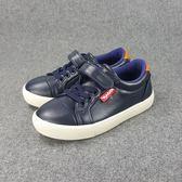 經典簡約 素色皮質 休閒鞋《7+1童鞋》D292藍色