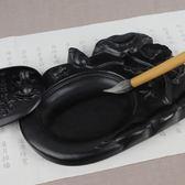 諾詩諾 荷花澄泥硯臺帶蓋文房四寶墨盒學生初學者毛筆書法成人用品研磨墨盤送墨條