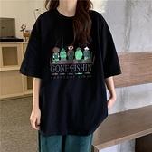 超火ins學生短袖t恤女2021夏裝新款韓版mschf復古港風chic上衣潮『潮流世家』