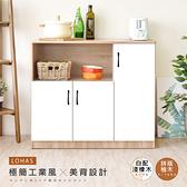 《HOPMA》簡約三門廚房櫃/收納櫃/美背PC-D-910D