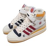 adidas 休閒鞋 Forum 84 High X EE 米白 紅 深藍 黃 三葉草 麥當勞 復古 男鞋【ACS】 H02575