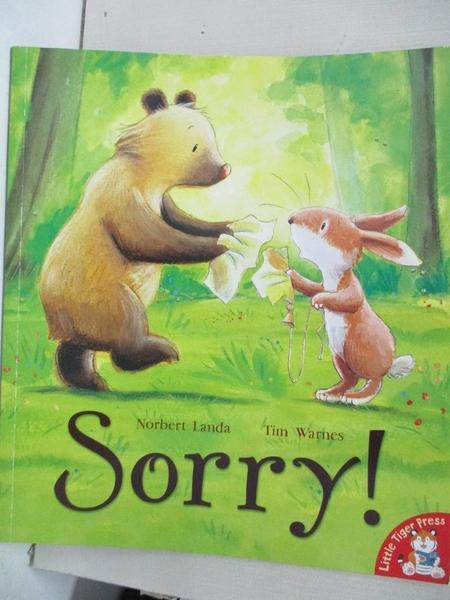 【書寶二手書T1/少年童書_DZG】Sorry! 對不起