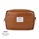 棕色皮革兩用隨身小包 腰包/肩背包   AMINAH~【am-0265】