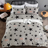 AGAPE 亞加‧貝《耀星閃動》MIT舒柔棉 雙人5尺三件式薄床包組