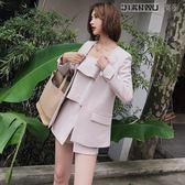 小西裝職業女裝休閒薄外套三件套裝