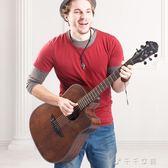 卡斯摩樂器吉他41寸民謠吉他復古吉他初學者入門個性吉它jita「千千女鞋」igo