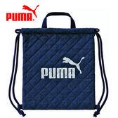 藍灰款【日本正版】日本製 PUMA 束口後背包 後背包 束口袋 手提設計 - 130168