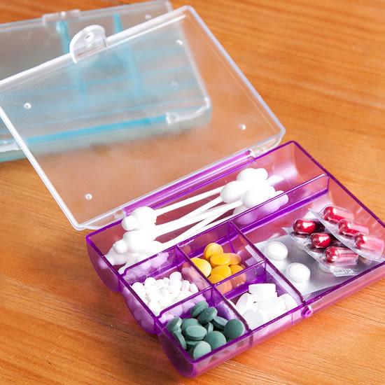 ♚MY COLOR♚六格整理收納盒 小物 首飾 飾品 雜物 零件 手作 DIY 藥盒 配件 便攜 分格【L46-1】
