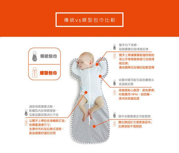 『121婦嬰用品館』Love To Dream 專利蝶型包巾 stage1 輕薄白M