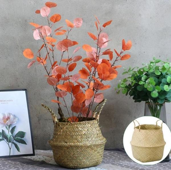 仿真花 北歐尤加利葉假花假樹客廳大型仿真綠植落地盆栽擺件室內裝飾植物