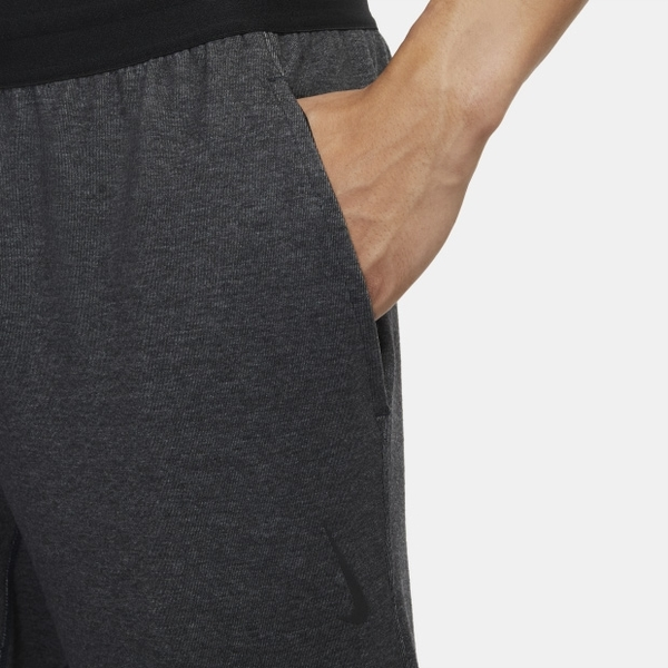 NIKE YOGA 男裝 長褲 棉質 瑜珈 訓練 導濕 速乾 彈性腰頭 拉鍊口袋 黑灰【運動世界】CU6784-010