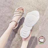 水鉆運動涼鞋女夏季厚底百搭時尚【桃可可服飾】