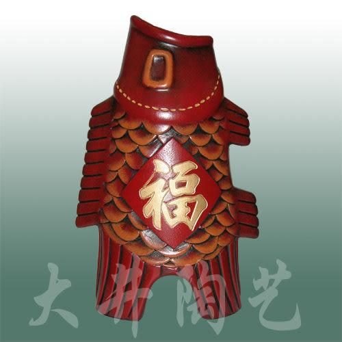 陶藝生日節日禮物禮品擺設工藝品裝飾品飛魚福花瓶