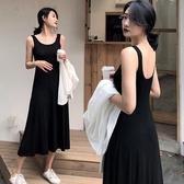 無袖洋裝 夏裝新款女裝黑色長裙無袖洋裝內搭打底裙長款背心裙吊帶裙 魔法鞋櫃