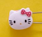 【震撼精品百貨】Hello Kitty 凱蒂貓~KITTY掀開式安全別針-大頭造型-粉#76639