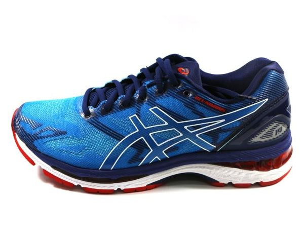 [陽光樂活] ASICS 亞瑟士 GEL-NIMBUS 19 (男) 高緩衝慢跑鞋 T700N-4301 水藍