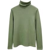 高領針織打底衫女秋冬新款堆堆領內搭純色簡約百搭套頭毛衣上衣服
