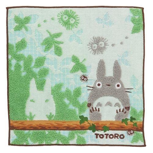 龍貓小方巾-兩隻龍貓