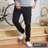 【JEEP】經典休閒修身口袋工作褲  (黑色)