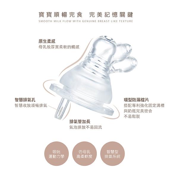 小獅王辛巴 母乳記憶超柔防脹氣奶嘴-寬口圓孔初生學習(SS)-4入S6338