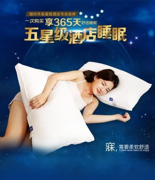 一對每個$499☆.:*家居貓【高檔軟枕】(五星飯店枕頭)NFPro 枕芯 全棉面料 羽絲絨高低軟枕頭芯