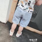 寶寶褲子夏季男童短褲兒童牛仔褲嬰幼兒中褲五分褲休閒褲12345歲  9號潮人館