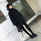 現貨長版大衣風衣流行大衣秋冬季中長版新品...
