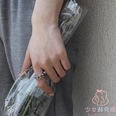 戒指女小眾設計復古做舊工藝食指指環【少女顏究院】