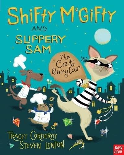 【麥克書店】SHIFTY McGIFTY AND SLIPPERY SAM:CAT BURGLAR/平裝繪本《主題:幽默》內附QR code