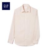 Gap男裝 舒適無褶長袖鈕扣襯衫 441149-粉色條紋