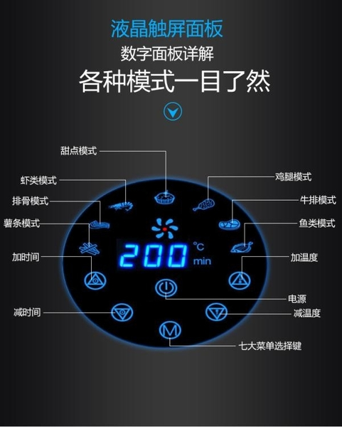 220v美國空氣炸鍋大容量家用全自動智慧多功能無油電炸鍋新款YYJ 凱斯盾