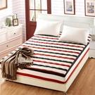 限定款鋪棉單床包/雙人加厚舖棉床包單件120X200公分床墊套席夢思床罩保護套防塵罩防滑保潔墊