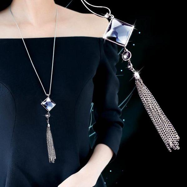 項鍊   日韓版氣質毛衣鍊長款秋冬百搭衣服掛件飾品項鍊簡約配飾