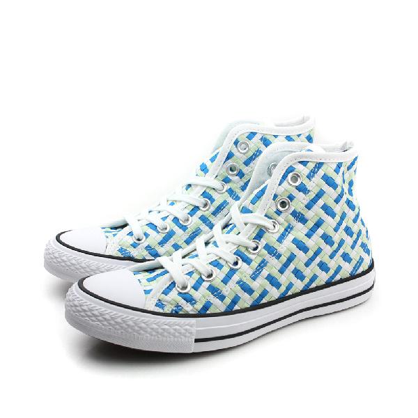 CONVERSE Chuck Taylor All Star 休閒鞋 高筒 編織 藍白 藍色 綠色 女鞋 552908C no266